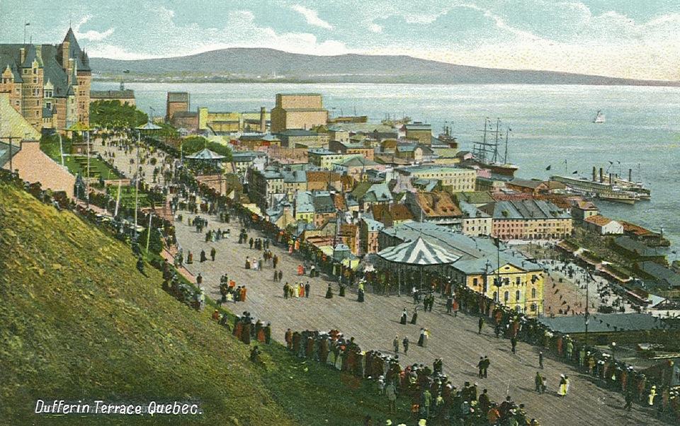En 1620, à Québec, quand Samuel de Champlain fait construire le fort