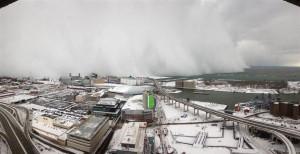 mur de neige a Buffalo