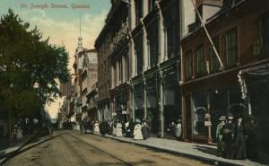 quebec rue saint joseph 1900