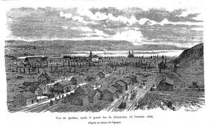 Quebec feu de St Roch octobre 1866, Cyclorama