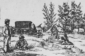 campement de bohemiens a lachine