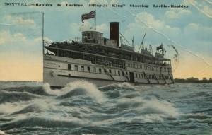 montreal bateau descendant les rapides de lachine