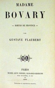 page couverture de madame bovary