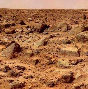 sol rocheux de mars