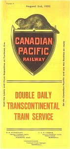 Horaire Canadian Pacific un