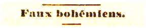 Faux bohemiens