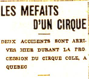 mefaits dun cirque