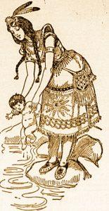 amerindienne-et-son-bebe