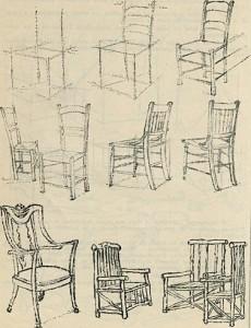 chaises bancs