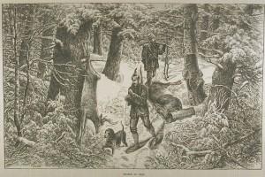 la chasse au cerf