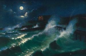 tempete nuit sur leau brighton