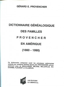 provencher dictionnaire des familles