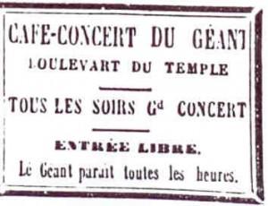 affiche cafe concert