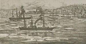 navires dans les glaces devant sorel