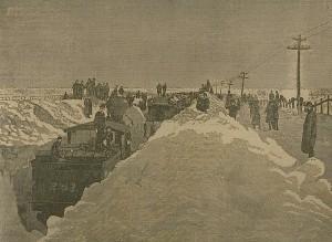 convoi enseveli par la neige train