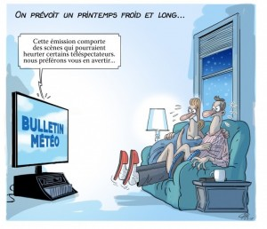 caricature printemps froid