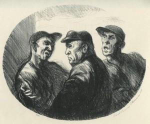 trois hommes sastinant paul lewis clemens