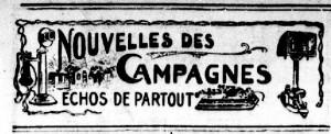 Nouvelles des campagnes