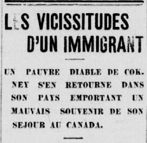 vicissitudes dun emigrant