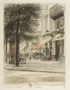 cafe tortoni, boulevard des italiens paris