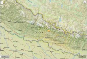 epicentre du tremblement de terre du nepal
