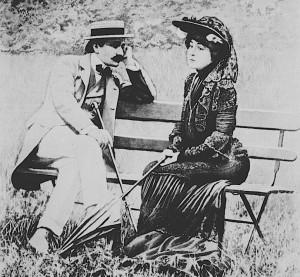 Edmond Rostand et son epouse, Album universel, 20 juin 1903
