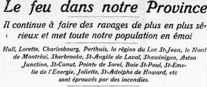 Grands feux au Quebec