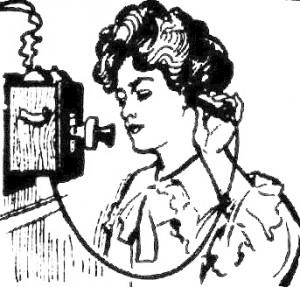 dame au telephone