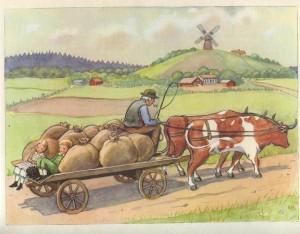 en route chez le meunier