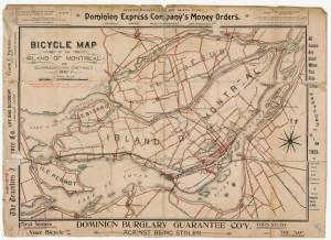 carte des pistes cyclables montreal 1897