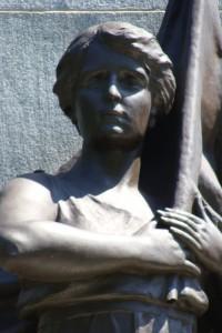 Bronze du socle du monument Mercier