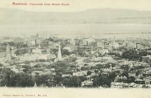montreal panorama vu du mont royal
