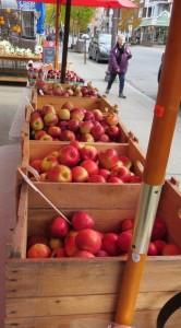 Boites de pommes