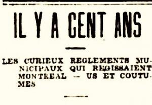 il y a cent ans