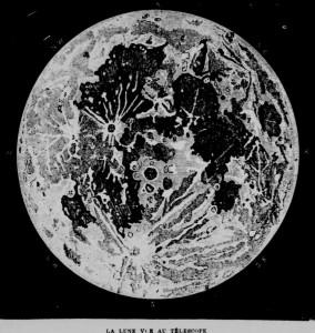 la lune vue au telescope