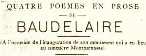 quatre poemes de baudelaire