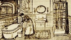 Lavage de la salle de bain