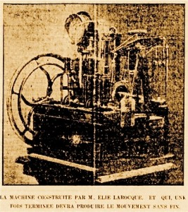 Le machine de monsieur Larocque