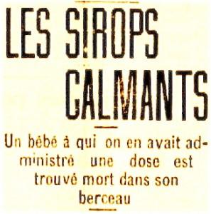 Les sirops calmants