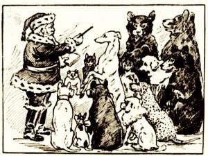 Santa previent ses animaux (La Patrie, 4 dec. 1905)