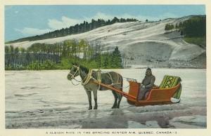 Sleigh ride sur la glace au Quebec