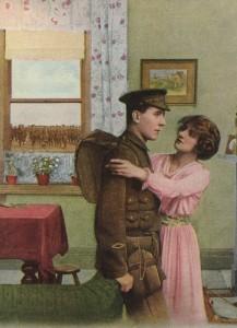 Soldat partant a la guerre