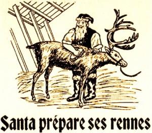 pere noel prepare ses rennes