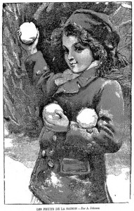 Enfant balles de neige