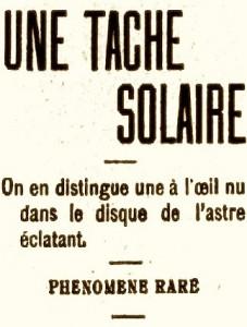 Une tache solaire