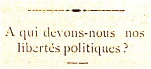 libertes politiques