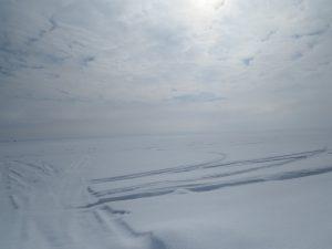 lac saint pierre en hiver