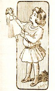 Fillette et sa poupee