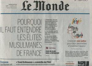 manchette Le Monde ados